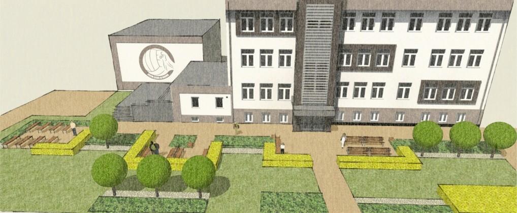 projekt zieleni - zespół szkół w gdowie - wizualizacja