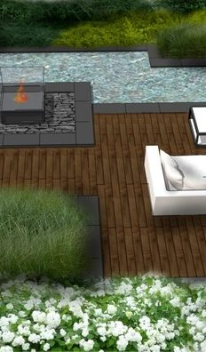 projektowanie ogrodów staw wizualizacja