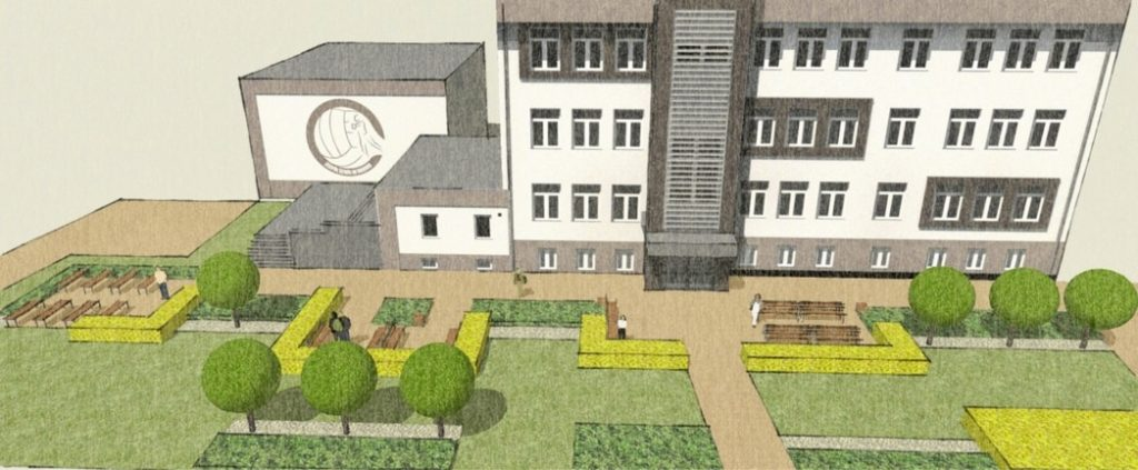 wizualizacja projektu publicznej zieleni -3d