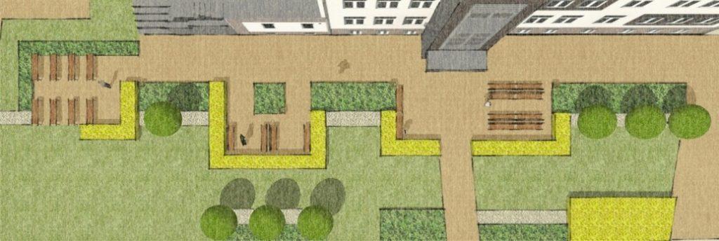 wizualizacja projektu zieleni publicznej gdów